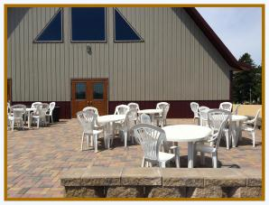 The Large Patio Expands Your Space, Pedretti's Party Barn, Viroqua