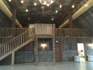 Stairway, Loft, Large Projection Screen - Pedretti's Party Barn, Viroqua
